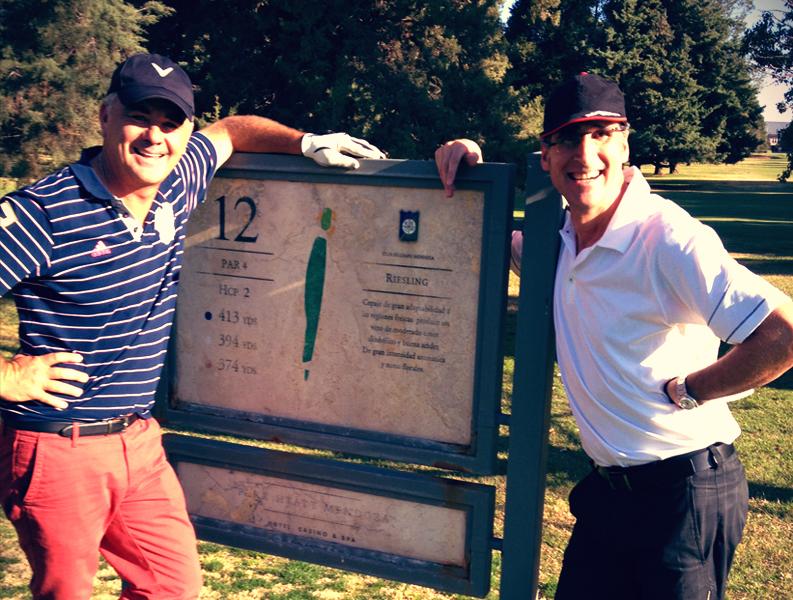Here with Manuel Montilla at Club de Campo Mendoza on my 50th Birthday Tour